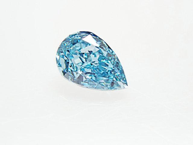 0.126ct FANCY.VIVID.GREENISH.BLUE,SI1,ペア ビビッドグリーニッシュブルーダイヤモンドルース