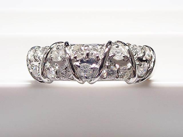 ダイヤモンド Total 0.54ct PT製 ダイヤモンドリング
