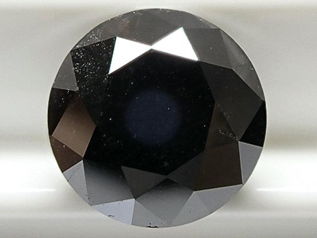 2.36ct FANCY.BLACK,ラウンド,GIA 天然ブラックダイヤモンドルース