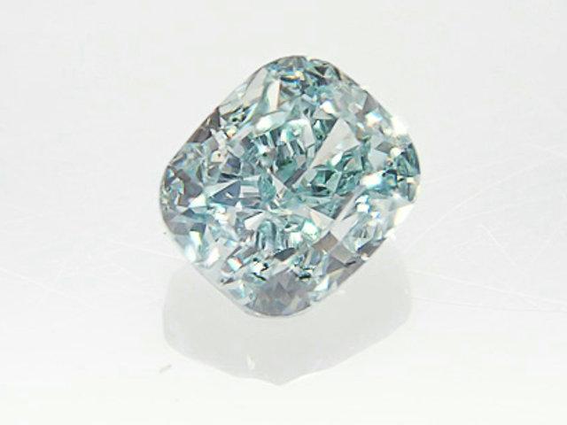 0.147ct FANCY.GREEN.BLUE,VS1,クッション グリーンブルーダイヤモンドルース