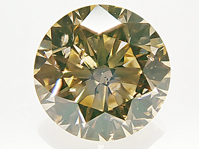 0.502ct FANCY.LIGHT.BROWNISH.ORANGY.YELLOW,SI2,ラウンド ダイヤモンドルース