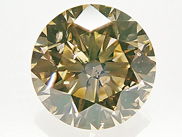 0.502ct FANCY.LIGHT.BROWNISH.ORANGY.YELLOW,SI2,ラウンド ダイヤモンドルース