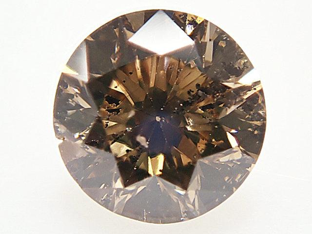 0.697ct FANCY.BROWN,SI2,ラウンド ブラウンダイヤモンドルース