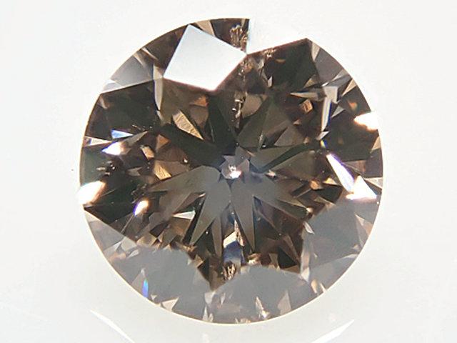 0.398ct FANCY.BROWN,SI1,ラウンド ブラウンダイヤモンドルース