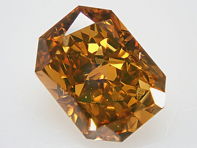 1.00ct FANCY.DEEP.BROWNISH.ORANGY.YELLOW,SI2,ラディアント ダイヤモンドルース