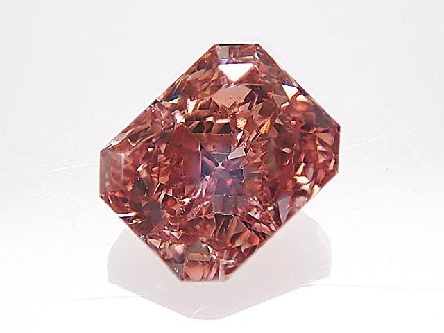 0.519ct FANCY.DEEP.BROWNISH.ORANGY.PINK,SI1,ラディアント ダイヤモンド ルース