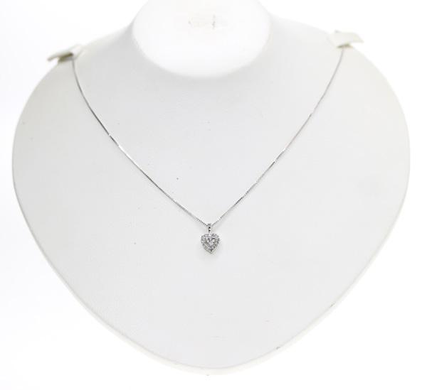 JEWELRY TSUTSUMI ジュエリーツツミ ダイヤモンド 0 08ct 0 07ct ハートシェイプ ネックレス K14WGkZiTuOXP