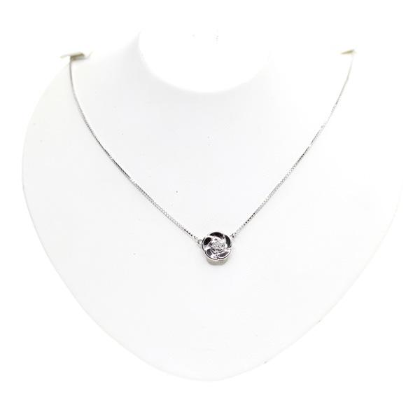 CAMELLIA カメリア ジュエリーマキ フラワーモチーフ ダイヤモンド 0 1ct ネックレス PT850201706海外vmwOynPN80