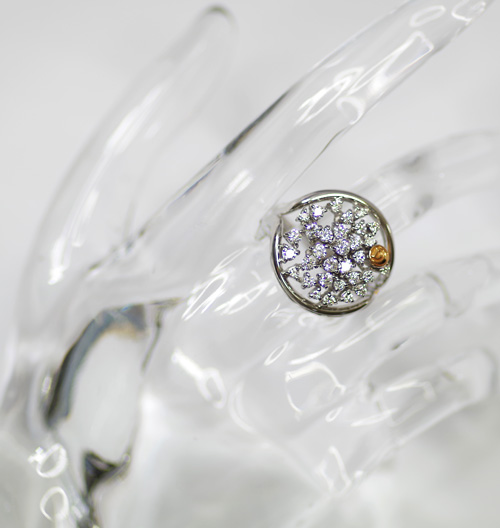 다미아니 750 WG/K18 다이아몬드 1.06 ct 3181 AL링 14.5호 화이트 골드