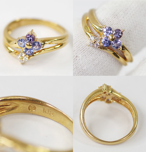 La verite tanzanite diamond ring 6.5 No. 18yg < December birth stone: