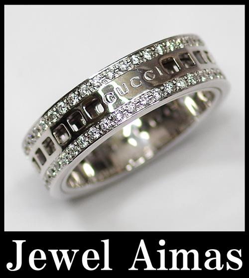 76f995466 ... Men's Gucci slip ring (scroll ring) diamond # 26-25, with box ...