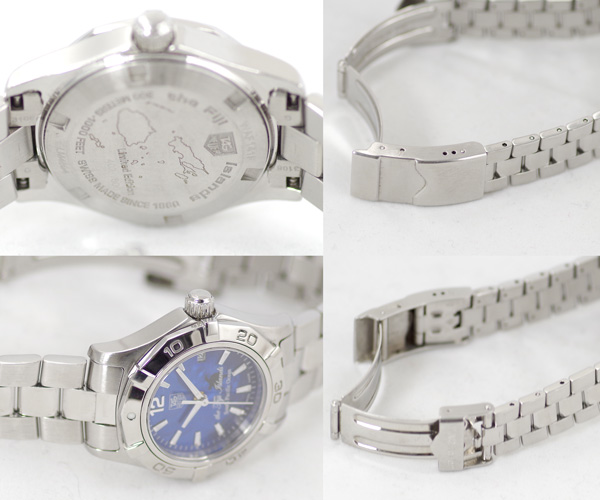 Tag Heuer Aquaracer Fiji Fiji 800 books limited WAF141F300m waterproof brushed dial stainless steel ladies quartz