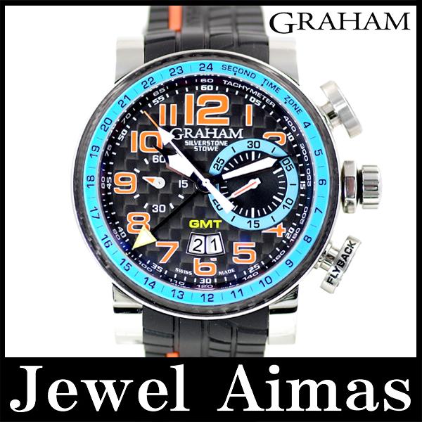 pretty nice a3c16 1b225 【GRAHAM】グラハム シルバーストーン ストウ 500本限定 ブルー フライバック クロノグラフ GMT ...