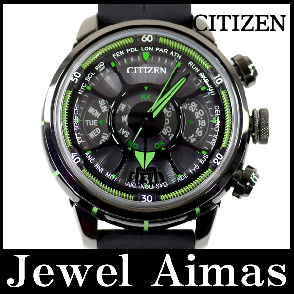 Citizen eco drive satellite wave CC0005-06E 990 book limited green black  letter Edition SS stainless steel ceramic rubber strap mens solar 1e06d5f97
