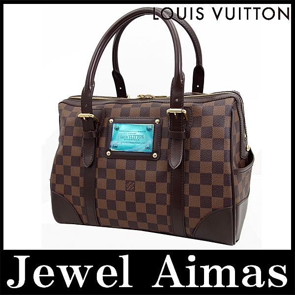 Louis Vuitton 双色格子伯克利手大手提包波士顿包以及全新甚至 N52000 停止