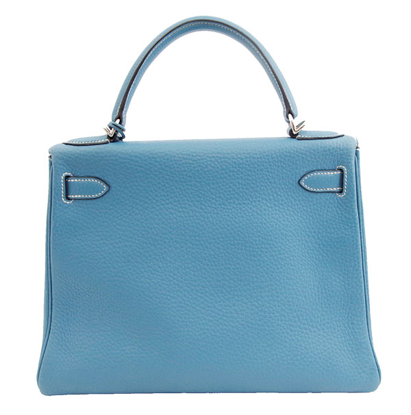 3f6ac349b8a Hermes Kelly 28 hand shoulder bag Blue Jean silver fittings there beauty  products