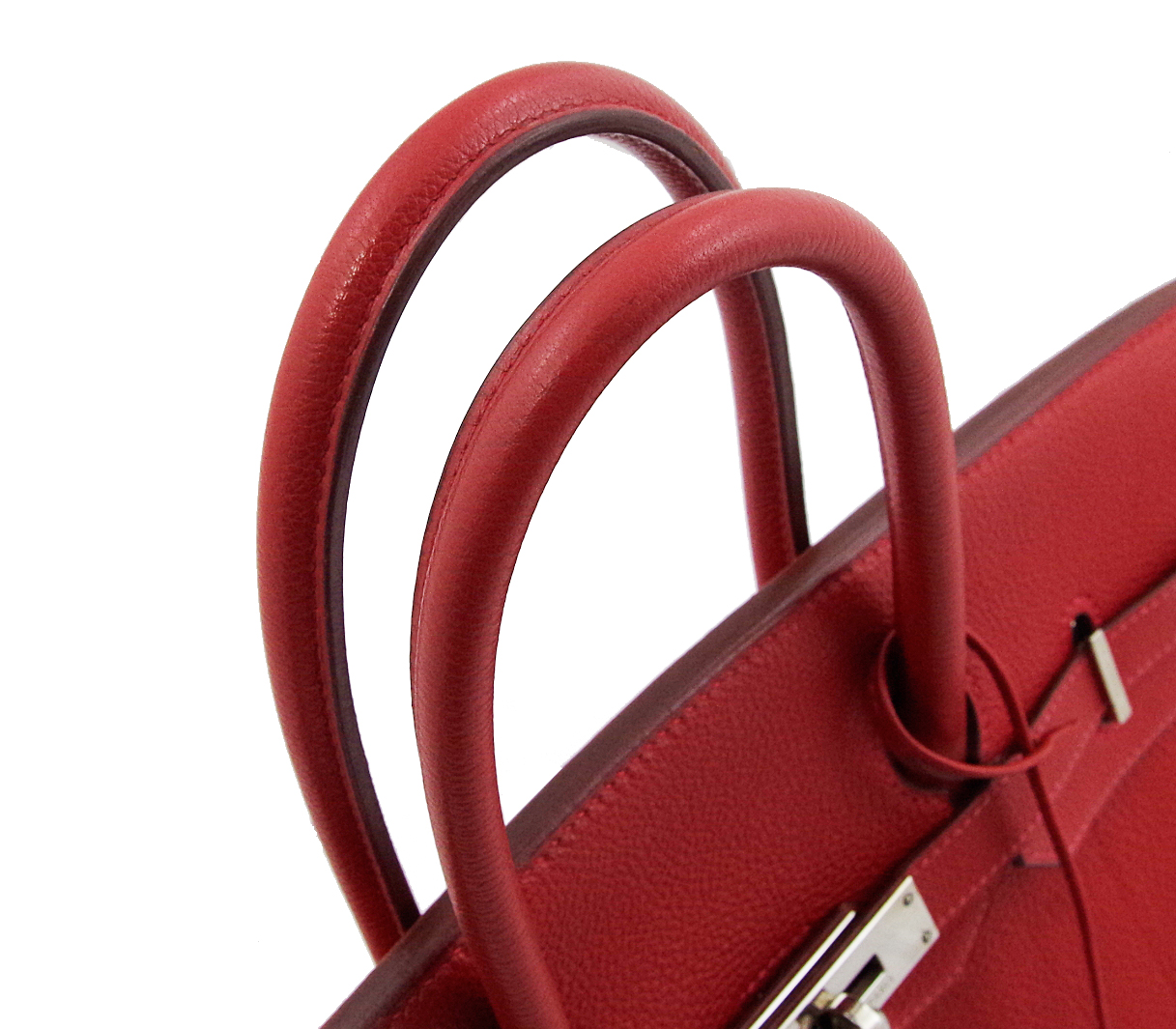 Hermes Birkin 35 hand tote bags Red Red silver fittings there Birkin35 Black 2674332ce8d6f