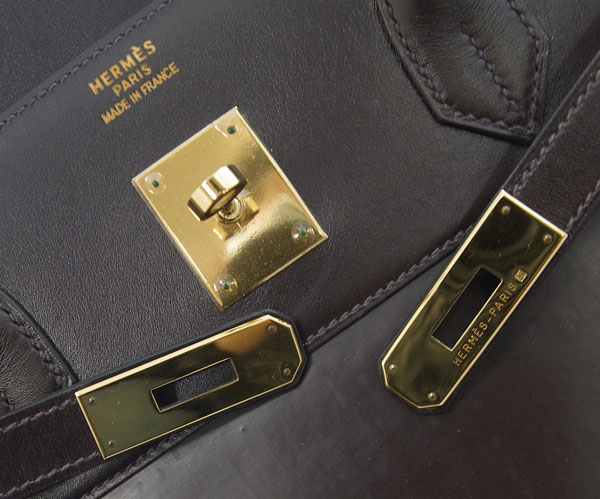 5408d42a4f5 Jewel Aimas  Hermes Birkin 40 hand tote bag dark brown Amazonia Bock ...
