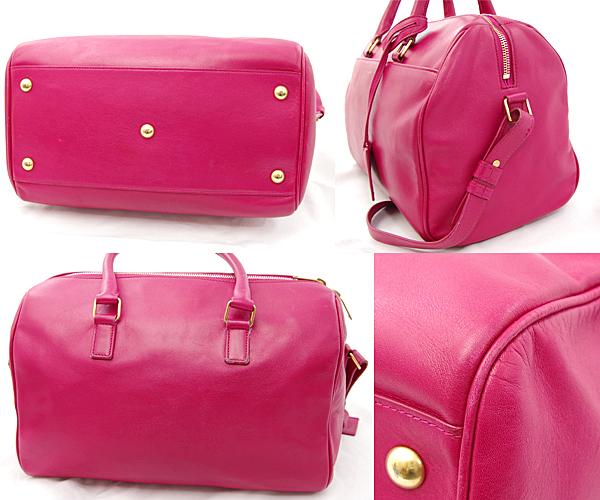 58f7c0e2d2 ... Take Saint-Laurent baby duffel pink 2way Boston hand shoulder bag  314704 slant; YSL ...