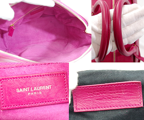 4d7da9068f ... Take Saint-Laurent baby duffel pink 2way Boston hand shoulder bag  314704 slant; YSL