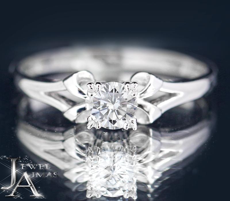 【MIKIMOTO】ミキモト ダイヤモンド 0.25ct 1粒ダイヤ エンゲージ ソリティア リング 婚約指輪 12号 PT950 プラチナ【中古】MEP
