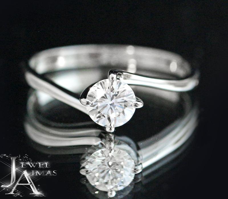 【MIKIMOTO】ミキモト ダイヤモンド 0.45ct リング 結婚指輪 婚約指輪 ブライダル 11.5号 PT950 プラチナ【中古】MEP