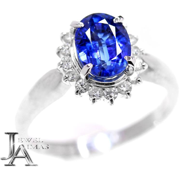カイアナイト カイヤナイト 1.758ct ダイヤモンド 0.25ct リング 12.5号 Pt900 プラチナ【中古】【ジュエリー】MJJ