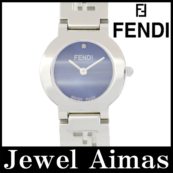 【FENDI】フェンディ 3050L 1P 青 ブルー 文字盤 SS ステンレス レディース クォーツ【中古】【腕時計】