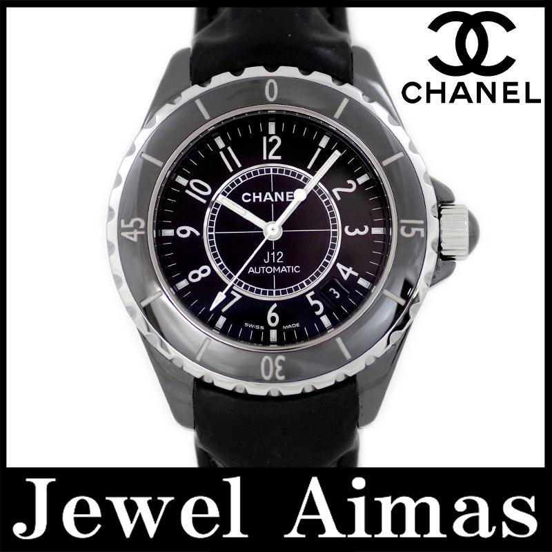 【CHANEL】シャネル J12 38mm H0683 セラミック ブラック 黒 文字盤 自動巻き メンズ【腕時計】【中古】