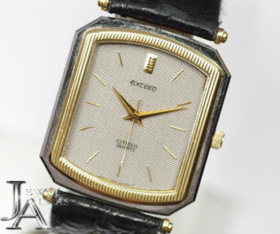 【CITIZEN】 シチズン エクシード EXCEED トップ K14YG/SS コンビ 4-191242NA シルバー文字盤 メンズ腕時計【中古】