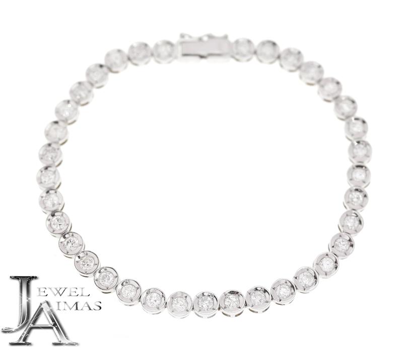 ダイヤモンド 2.23ct フルダイヤモンド テニスブレスレット K18WG ホワイトゴールド【中古】【ジュエリー】MER
