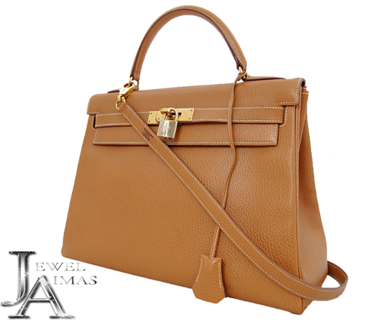 1b3e5cd2a07b3 coupon code for hermes kelly 32 2 hand shoulder bags brown gold bracket  ardennes b042a e2652