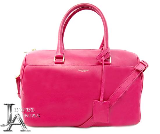 608465d937 Take Saint-Laurent baby duffel pink 2way Boston hand shoulder bag 314704  slant; YSL ...