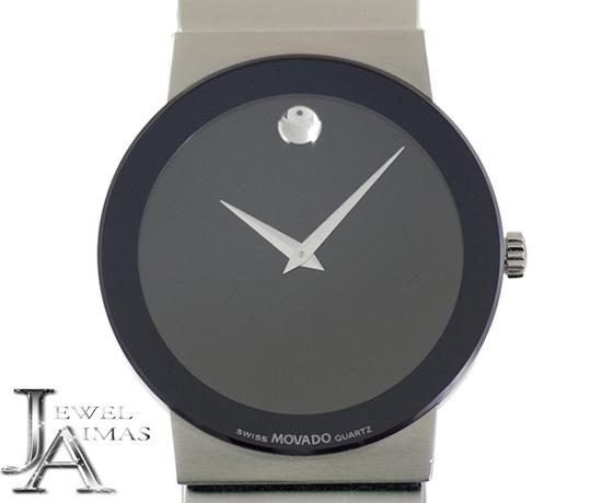 【MOVADO】モバード 99-C6-1881 ブラック文字盤 SS ステンレス ボーイズ クォーツ【中古】【腕時計】