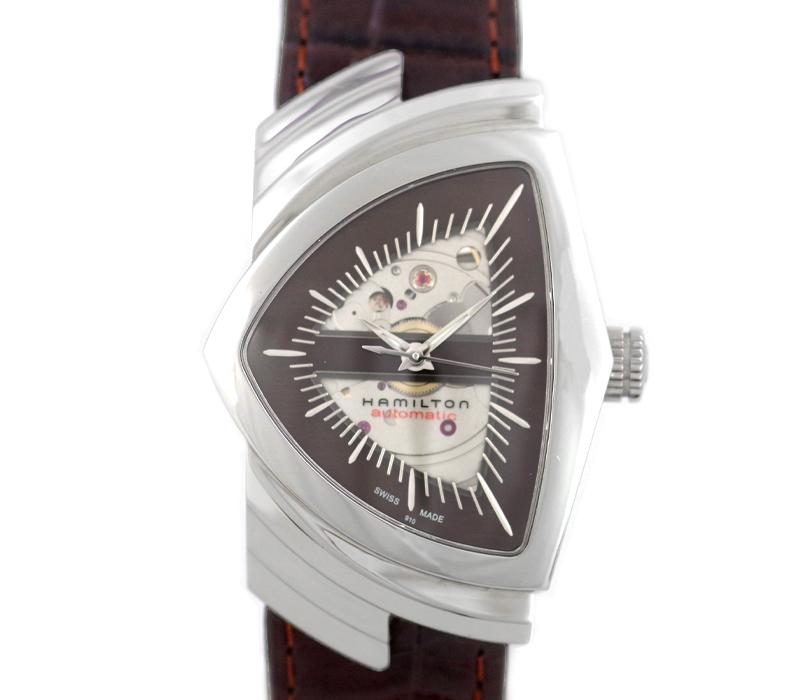 【HAMILTON】ハミルトン ベンチュラ H245150 ブラウン 文字盤 SS ステンレス 純正ベルト 純正尾錠 メンズ 自動巻き【中古】【腕時計】