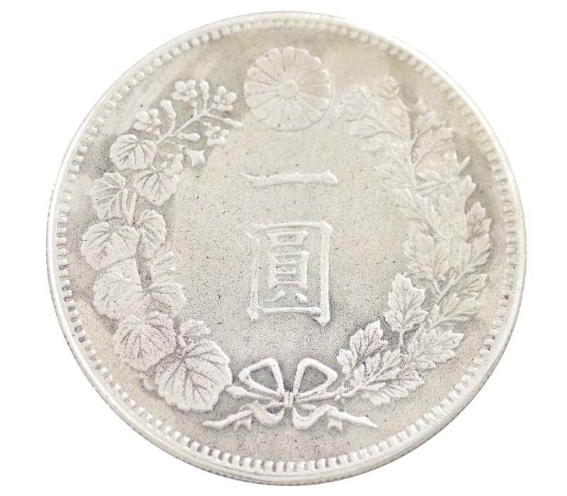 新1円銀貨 明治22年(1889年) 貨幣 コイン 古銭 旧硬貨 新一圓銀貨【中古】