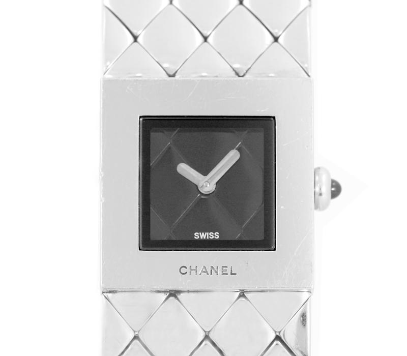 【CHANEL】シャネル マトラッセ H0009 黒 ブラック 文字盤 SS ステンレス スチール レディース クォーツ【中古】【腕時計】