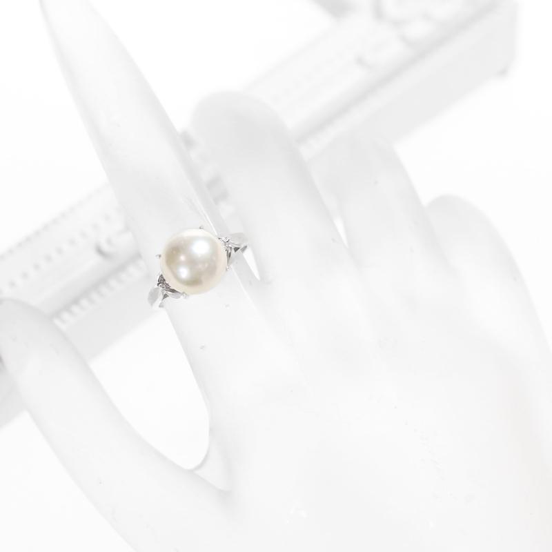 パール 真珠 9 5mm ダイヤモンド 0 04ct リング 9号 PT900 プラチナ ジュエリー RZZ ITZPkOuwXi