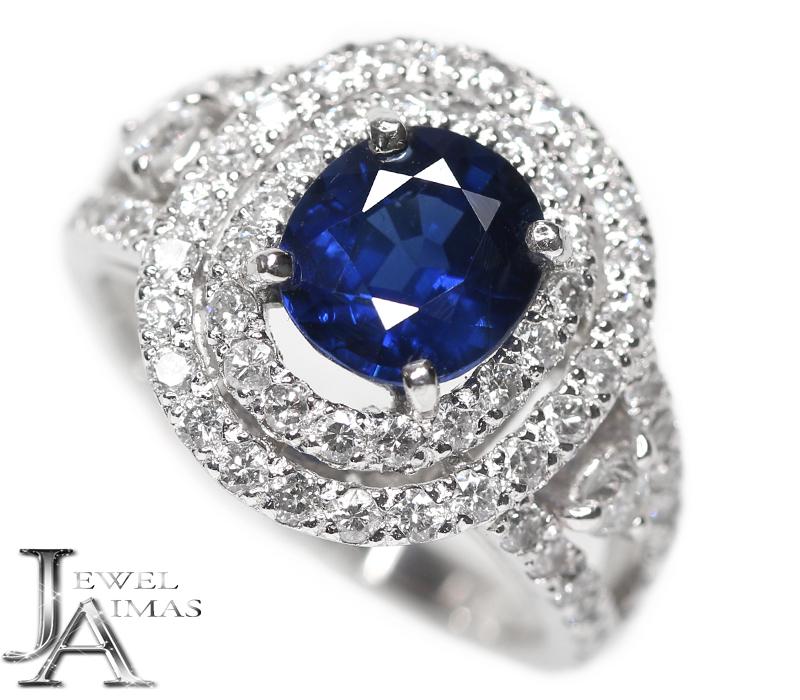 激安通販の ブルーサファイア 2.11ct ダイヤモンド 1.2ct オーバル 楕円 リング 12号 PT900 プラチナ【新品】【ジュエリー】RZL.MI, あーかんび(AKANBI):2deaa955 --- greencard.progsite.com