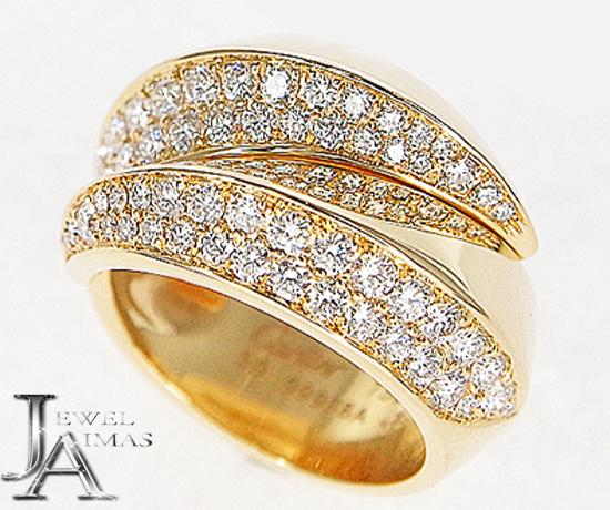 【Cartier】カルティエ パンテール グリフ ダイヤモンド リング イエローゴールド K18YG 750 指輪 小物 アクセサリー 【中古】
