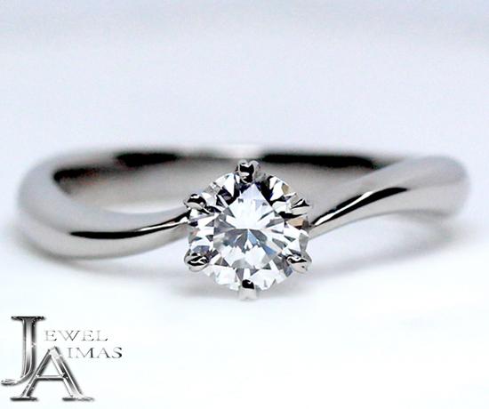【EXELCO DIAMOND】エクセルコダイヤモンド ダイヤ 0.406ct D VVS-2 GOOD ブライダル エンゲージ ソリティアリング PT900 8号【新品】