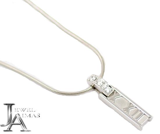800807751 Tiffany atlas 3PD pendant diamond necklace 750 K18 WG white gold accessory  accessories ...