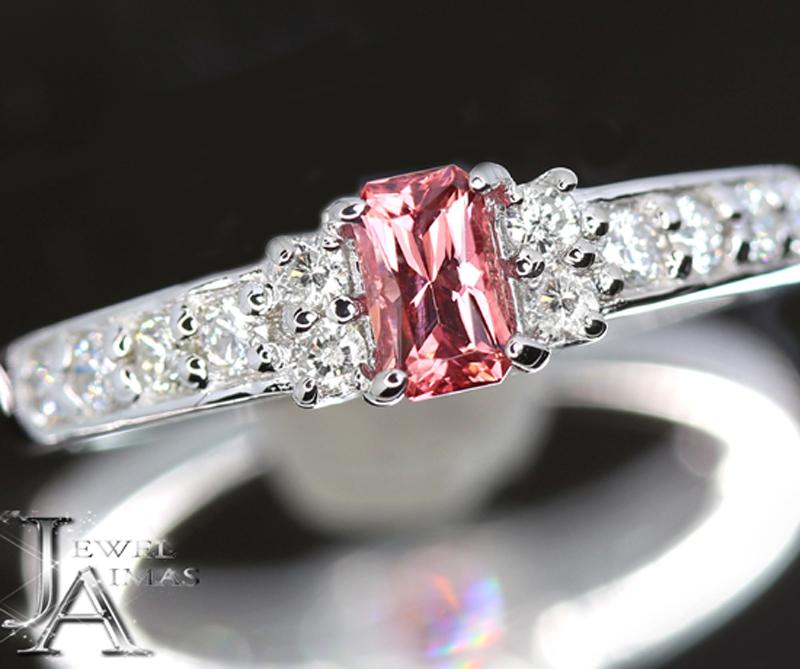 ピンクスピネル ピンクパープルスピネル 0.33ct ダイヤモンド 0.28ct リング 11.5号 PT900 プラチナ【新品】【ジュエリー】MJL