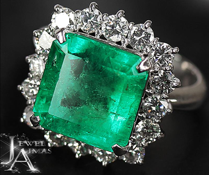 新作人気モデル 【ジュエリー】コロンビア産エメラルド 5.9ct ダイヤモンド 1.17ct リング 11号 PT900 F2 <GIA>【】, ハーティエクスプレス:08cee312 --- greencard.progsite.com