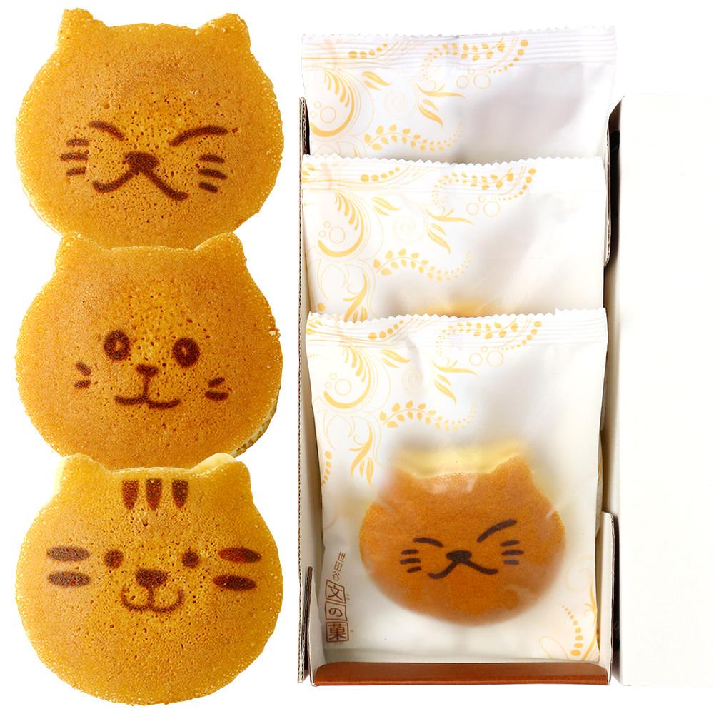 猫のどら焼き3個