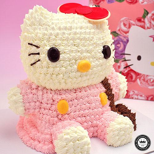 ハローキティ 立体ケーキ 約8~10人分 3Dデコレーション Hello Kittyのキャラクターケーキ(キティ キティちゃん スイーツ 誕生日ケーキ ケーキ キャラクター お誕生日ケーキ 誕生日 かわいい 内祝い バースデー 出産内祝い 退職 可愛い 結婚記念日 サプライズ)