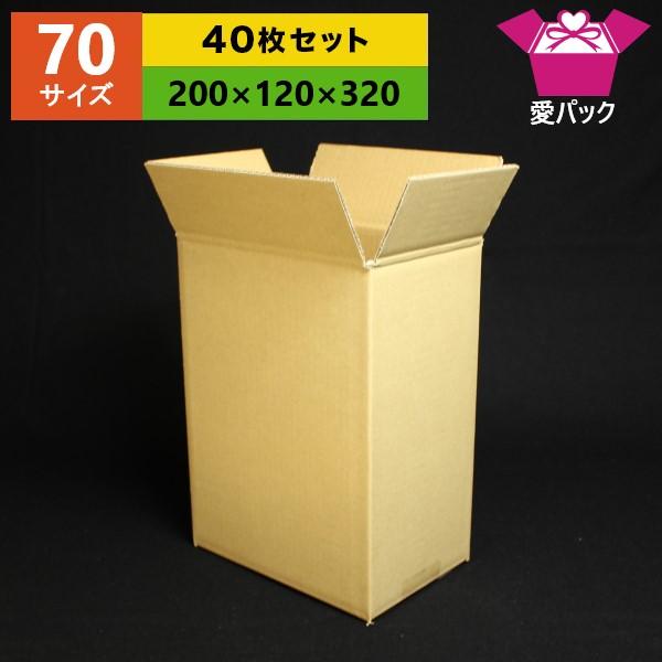 オーダーメイドダンボール箱 ダンボール箱 70 80 サイズ オーダーメイド 200×120×320 無地×40枚 縦型 日本製 収納 薄型素材 通販用 段ボール 梱包用 無地ケース 引っ越し 引越し 小物用 本日限定 18%OFF