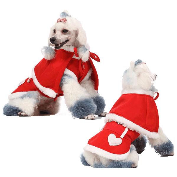 【メール便(ネコポス)】秋冬のクリスマス スカートのスーツ【犬 服,ドッグウェア,犬 洋服,ペット 洋服】【あす楽対応】♪【RCP】