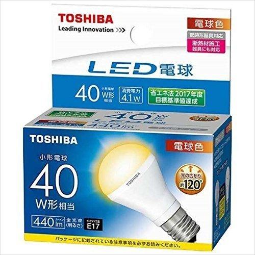 (10個セット)LED電球 LDA4L-H-E17/S/40W 東芝ライテック ミニクリプトン形 断熱材施工器具対応 下方向タイプ 小形電球40W形相当(LDA4LHE17S40W)(LDA6L-H-E17/S後継機種)