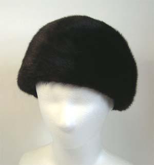 毛皮帽子 ミンクを贅沢に使用した可愛いファー帽子【送料無料】